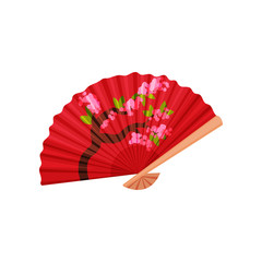 Chinese fan on white background.