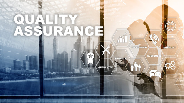 The Concept of Quality Assurance and Impact on Businesses. Quality control. Service Guarantee. Mixed media.