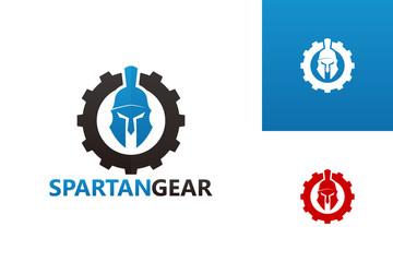 Spartan Gear Logo Template Design Vector, Emblem, Design Concept, Creative Symbol, Icon