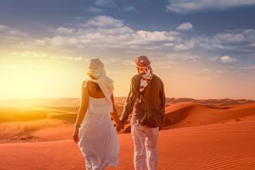 desert walking couple in V.a.E.