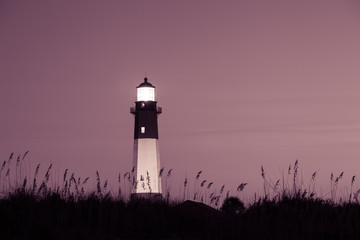 Lighthouse at the night, Tybee island, USA