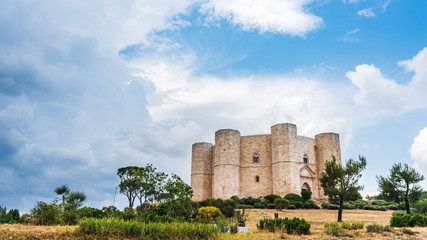 Castel del Monte, a 13th century fortress built by the emperor of the Holy Roman Empire, Frederick II. Italy