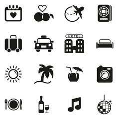 Honeymoon Trip Icons