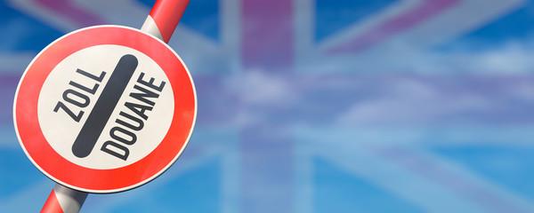 Offener Schlagbaum Grossbritannien