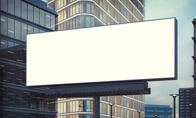 advertising billboard on city night mockup