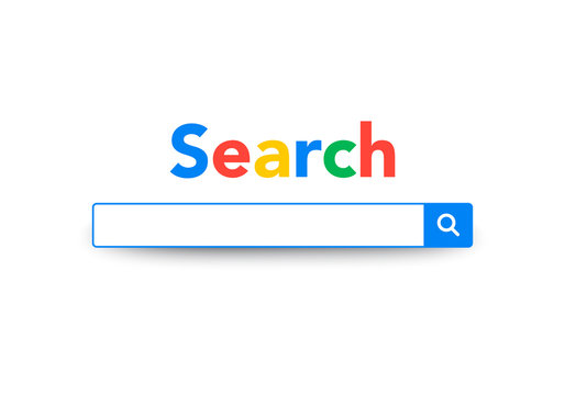 Vector Element Google Search Bar, Search Engine Template