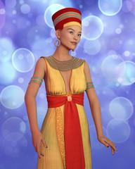 3D Frau im Kleopatra Kostüm