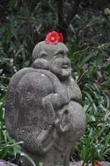 花飾りの布袋様