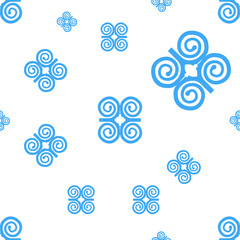 Seamless for Humility with strength or symbol of wisdowm adinkra symbol. Tribal symbol in Africa. Vector pattern illustration.