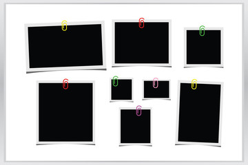 Collection blank photo frame icon