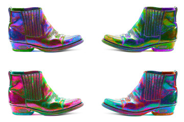 bottines couleurs flashy