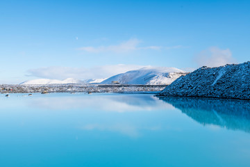 Iceland Blue Lake Natural scenery