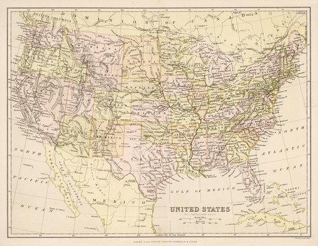Map North America Blacki