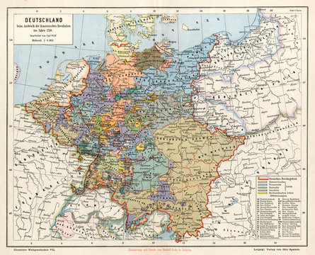 Map Europe Germany 1789
