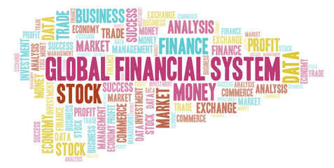 Global Financial System word cloud.