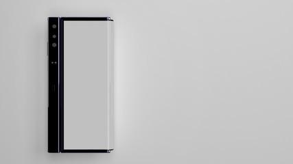 Folding Phone of background, 3d render
