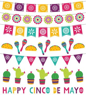 Cinco de Mayo party banners and decoration set