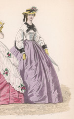 Lilac Skirt Early 1860s