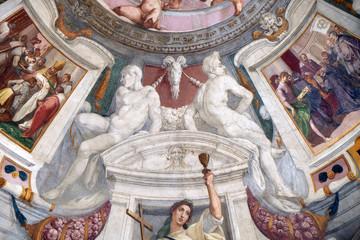 Naked by Bernardino Poccetti Ospedale degli Innocenti - Exterior arcade, Florence, Italy