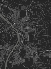 map of the city of Omsk, Russia