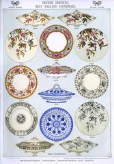 Dinner Services, Best English Stoneware, Plate 4