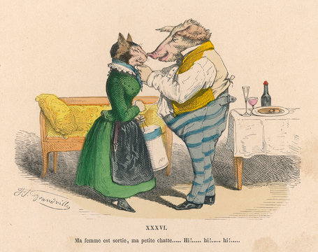 Lovers As Cat and Pig