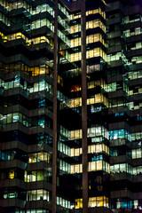 Office building at night, Sydney, Australia