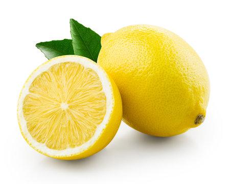 Fresh lemon with half