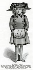 Girls Coat Muff 1909