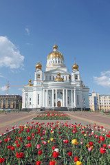 The Cathedral of St. Theodore Ushakov in Saransk, Mordovia of Russia