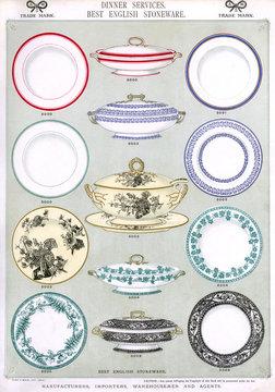 Dinner Services, Best English Stoneware, Plate 1