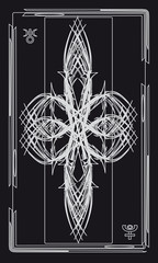 Tarot cards - back design, Pluto, Uranus