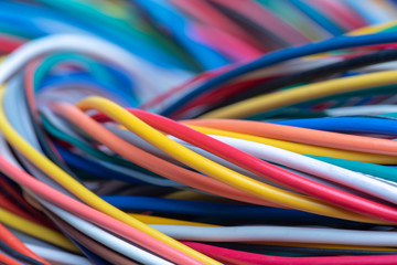 Multicolored electrical computer cable