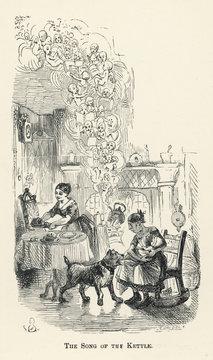 Dickens Cricket Hearth