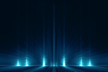 Abstract digital science fiction futuristic background Wall mural