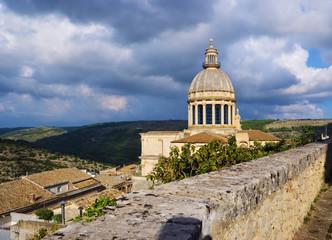 the dome of Saint George Ragusa Sicily Italy