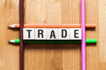 text of TRADE on cubes