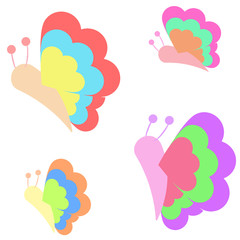 Simple Butterfly Vector Designs