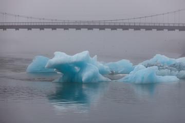 Famous Jokulsarlon glacier lake on south coast of Iceland