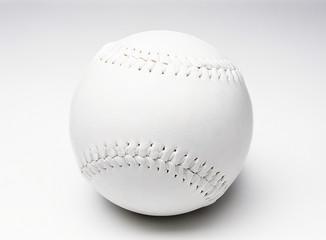 White baseball on white background