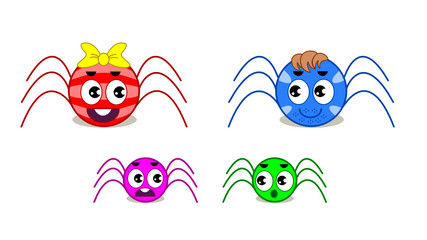 Spiders Family for animation