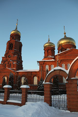 Saransk, Russia, Winter view at The Church Of St. Nicholas