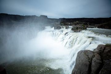 moody waterfall