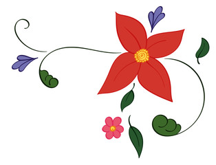 Flower Decal Corner
