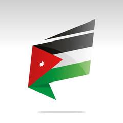 New abstract Jordan flag origami logo icon button label vector