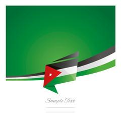 New abstract Jordan flag ribbon origami green background vector