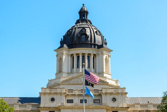 South Dakota Capitol Building under blue sky