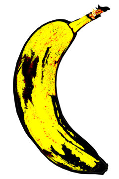 banana in the style of Andy Warhol