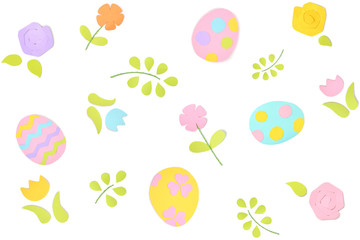 Easter paper cut on white background - isolated