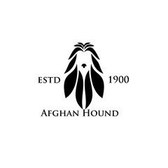 Afghan Hound dog logo icon designs vector illustration